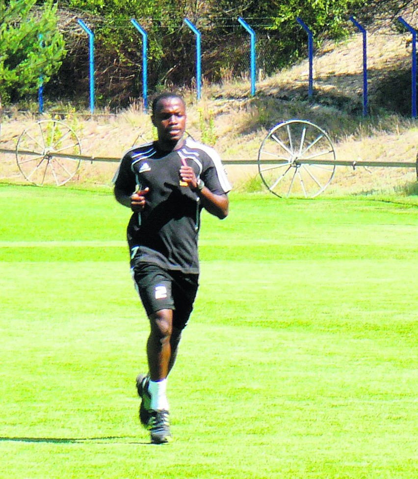 Abdou Razack Traore podczas treningu we Wronkach