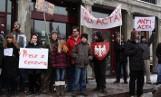 Protest przeciwko ACTA w Gdańsku. ZDJĘCIA