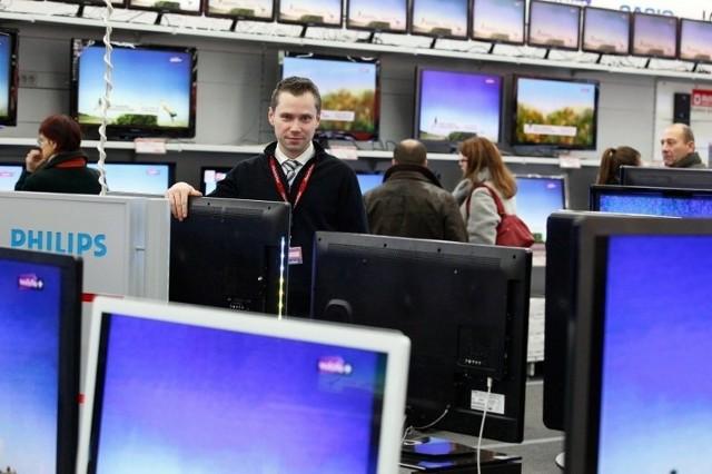 Telewizory to towar najczęściej teraz kupowany w Media Markt.