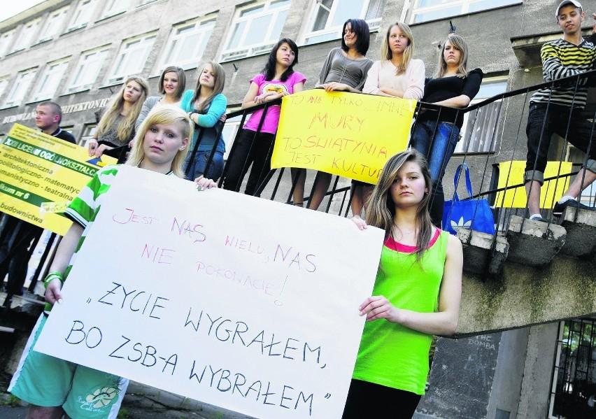 - Będziemy walczyć o naszą szkołę - zapowiadają uczniowie ZSBA