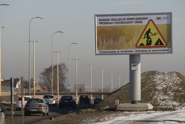 Każdy z czterech billboardów ma powierzchnię prawie 18 m kw.