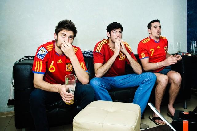 Euro 2012: Hiszpańscy kibice oglądają w Lublinie mecz swojej reprezentacji