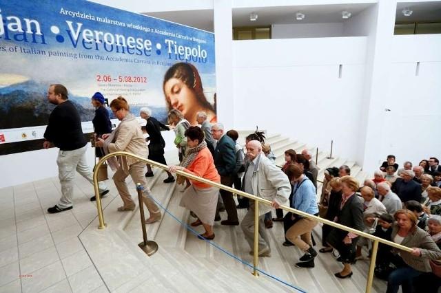 Setki osób przyszły w sobotę do Muzeum Narodowego podziwiać wielkie dzieła wybitnych artystów