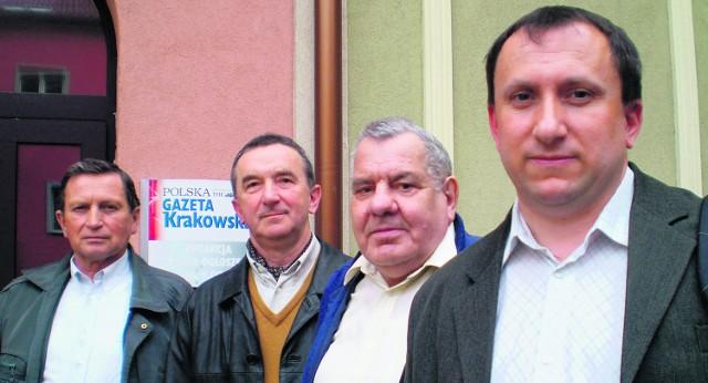Henryk Gromek, Aleksander Krzyżanowski, Julian Mielech i Mariusz Ryńca chcą stworzyć mniejszą spółdzielnię