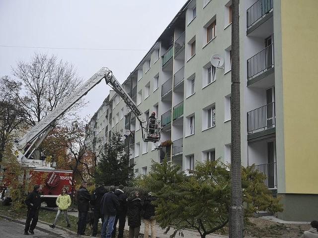 W poniedziałek rano spaliło się mieszkanie przy Gołębiej w Łodzi.