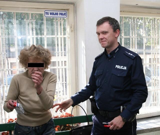 Krystyna W. podczas zatrzymania w 2010 r.