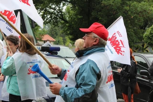 Solidarność protestowała w miastach w woj. lubelskiego