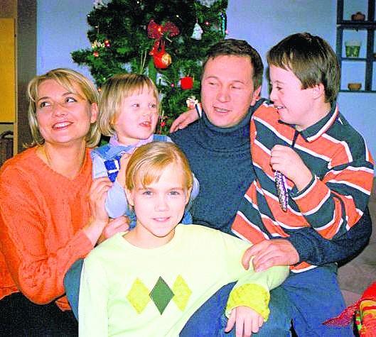 Ryszard Lubicz jeszcze z rodziną