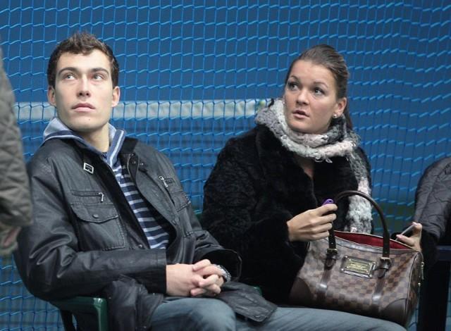 Jerzy Janowicz i Agnieszka Radwańska