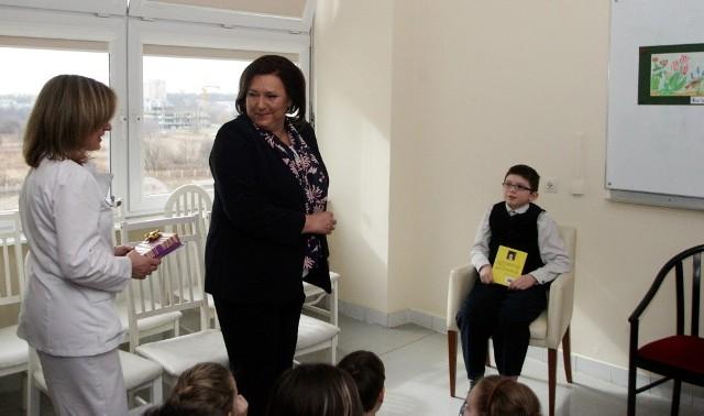 Anna Komorowska w Dziecięcym Szpitalu Klinicznym w Lublinie