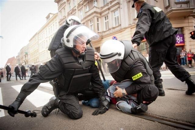 Starcia policji z manifestantami 17 września w Poznaniu