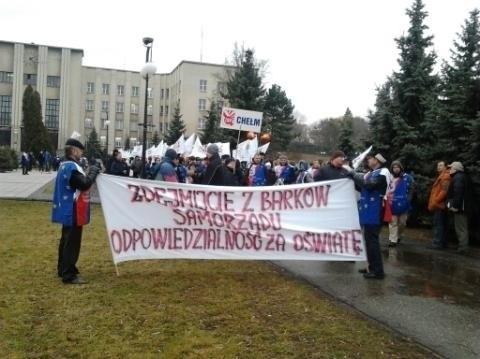 Protest w Chełmie