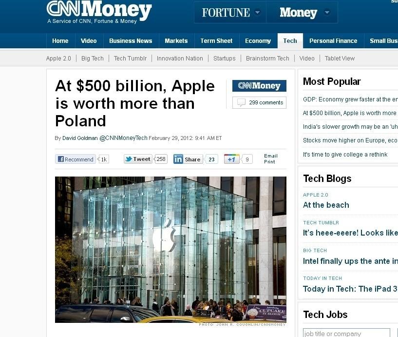 """""""Apple jest wart więcej niż Polska"""". CNN o najbardziej wartościowej spółce świata"""