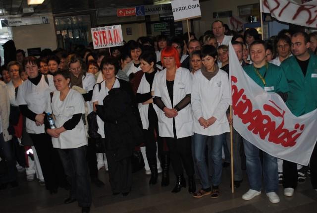 Protest w konińskim szpitalu