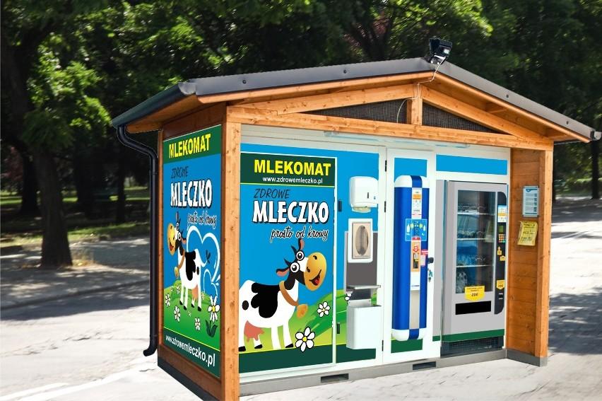 Tak będą wyglądać mlekomaty, które staną na ulicach miasta