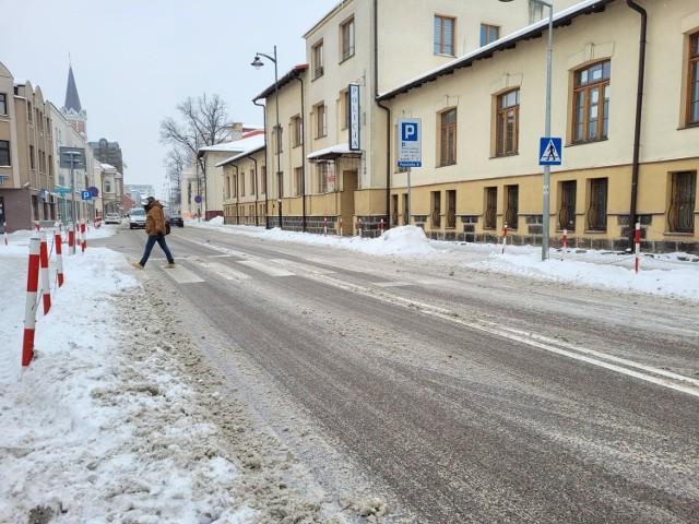 Białystok, 20.01.2021. Nasz fotoreporter zatrzymał w kadrze stan ulic o godz. 10.30
