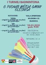 W lutym I Turniej Badmintona o Puchar Wójta Gminy Oleśnica