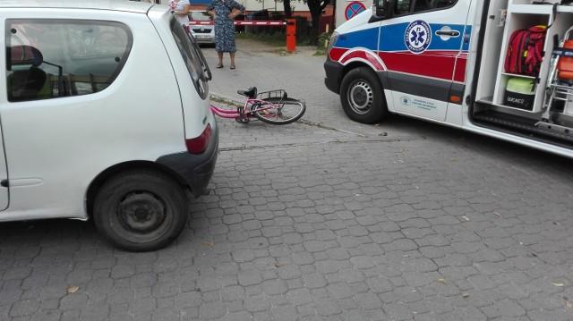 Potrącenie rowerzystki przy ul. Mickiewicza w Bielsku Podlaskim