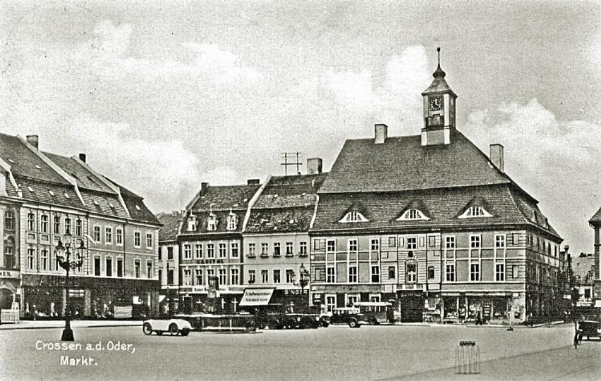 Północno-zachodnia część dawnego rynku w 1936 roku...