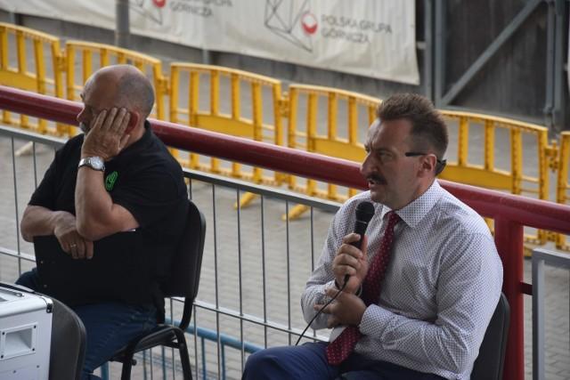 Prezes Krzysztof Mrozek i trener Lech Kędziora odpowiadali na pytania kibiców ROW-u Rybnik.