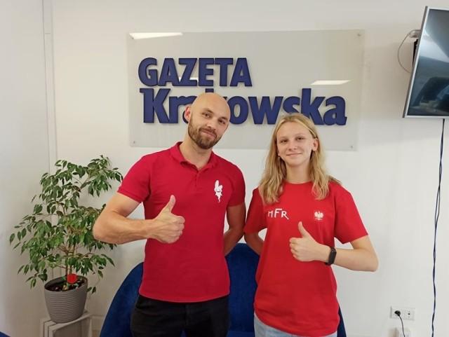 Trener i zawodniczka Screamo odwiedzili naszą redakcję przy Jagiellońskiej 16