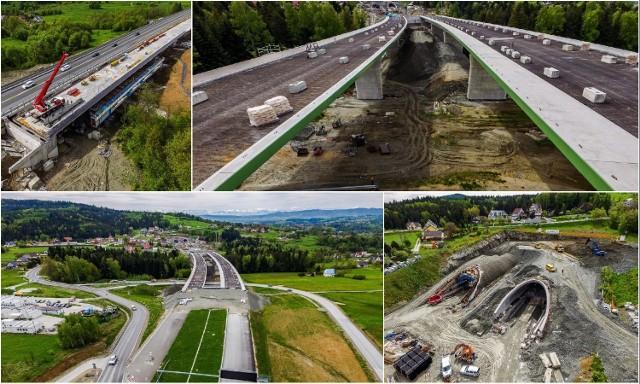 Budowa zakopianki pomiędzy Lubniem i Skomielną Białą. Zobacz aktualny stan prac.