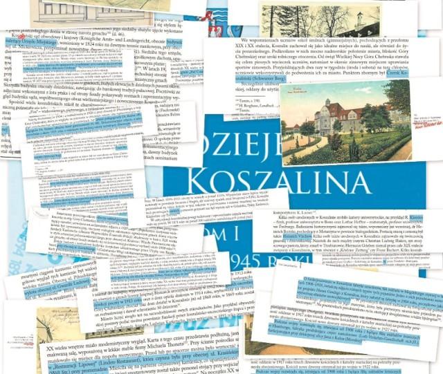 Ok. 100 błędów znalazł nasz współpracownik w najnowszym opracowaniu historii  Koszalina