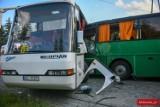 Wypadek w Pankach. Zderzenie autobusów. Są ranne dzieci [AKTUALIZACJA]