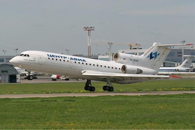 Fotografia ilustracyjna, Jak-42 w barwach rosyjskich linii lotniczych Centre-Avia.