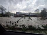 Oberwanie chmury w okolicach Dusznik-Zdroju. Utrudnienia na DK8, w Szczytnej piorun uderzył w dom