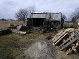 Pożar  w miejscowości Maliniec w gminie Rusiec. Płomienie objęły garaż