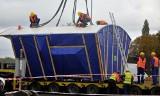 Kret na półmetku. Trwa rozładowywanie maszyny TBM, która wydrąży tunel pod Martwą Wisłą [ZDJĘCIA]