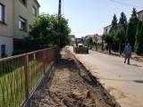 Trwają prace przy ulicy Łukaszewicza w Kobylinie