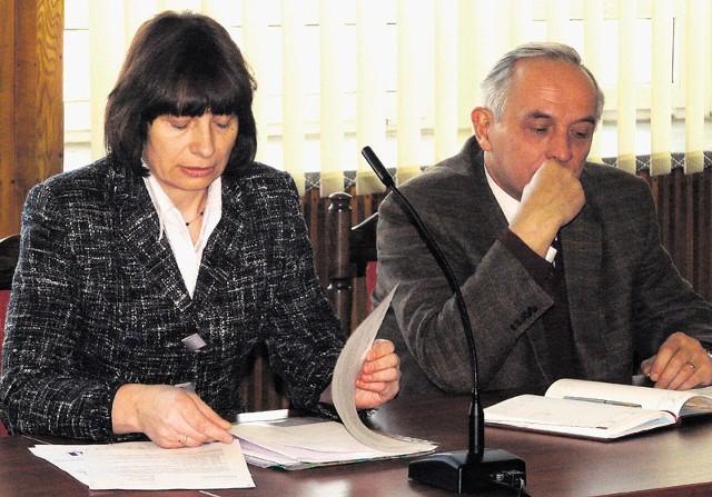 Irena Łęska z RSM i Wiesław Kamiński, prezes PGK, ramię w ramię przedstawiali swoje argumenty