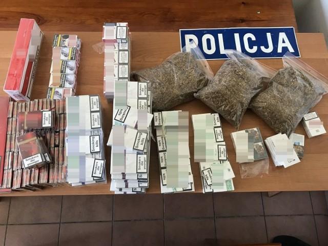 W bagażniku mercedesa policjanci znaleźli 7 kg krajanki tytoniowej oraz 1 200 sztuk papierosów