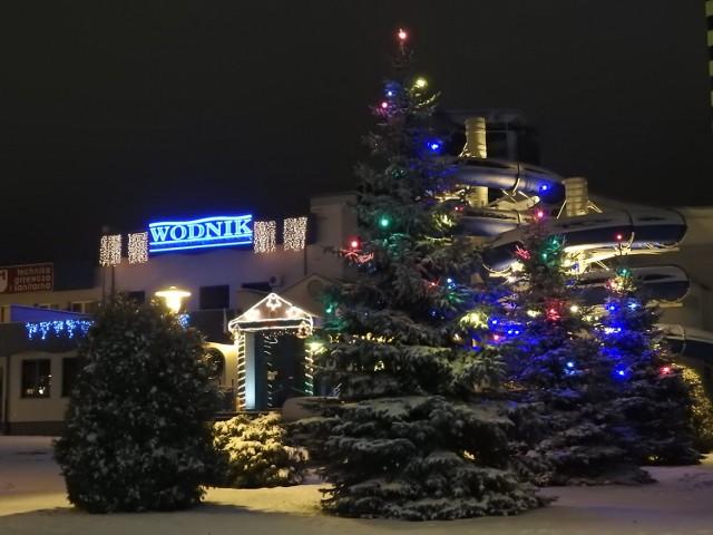 Bożonarodzeniowe oświetlenie w Bielsku Podlaskim