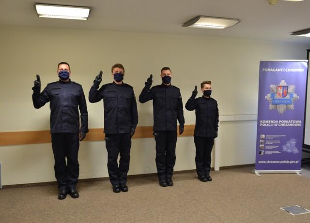 Nowi policjanci złożyli uroczyste ślubowanie w Chrzanowie