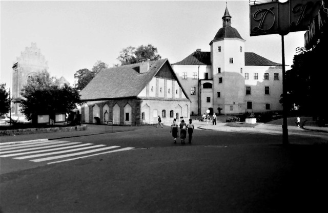 Zabytki tzw. zespołu Bramy Młyńskiej po odbudowie pod koniec lat 70. minionego stulecia