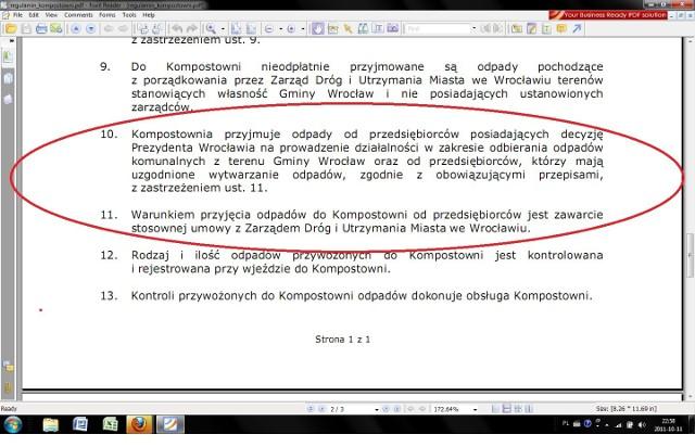 Błąd w artykule. Dzwoniłem do kompostowni. Nie przyjmują oni odpadów od mieszkańców Wrocławia a jedynie od firm.