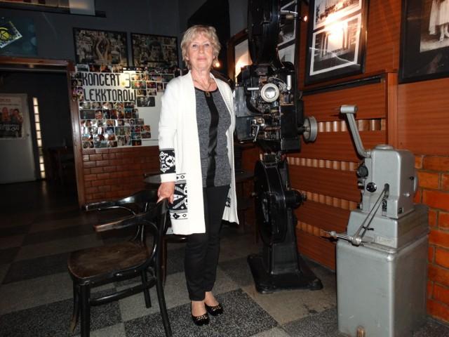 Pani Ewa Brzezińska samodzielnie prowadzi Kino Patria w Rudzie Śląskiej