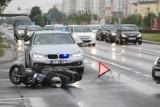 Wypadek na skrzyżowaniu Szosy Lubickiej i Rydygiera w Toruniu [ZDJĘCIA]