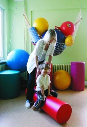 3,5-letni Jan Ignacy przyjechał wczoraj z Gdyni na swoje ostatnie z serii 10 zajęć rehabilitacyjnych. fot. grzegorz mehring
