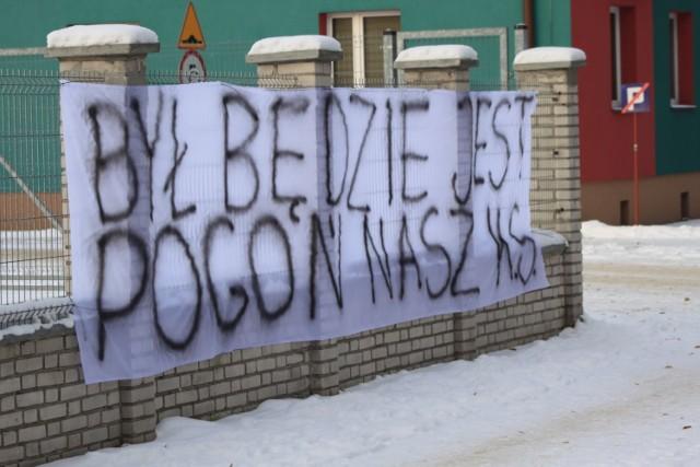Kibice Pogoni Zduńska Wola bronią swojego klubu