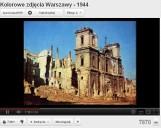 Unikalny film ze zdjęciami Warszawy z 1944 roku w kolorze