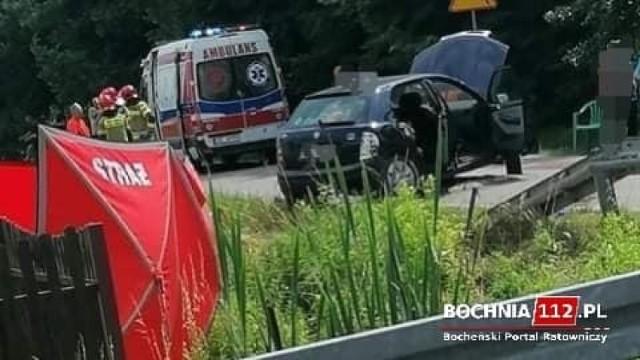 Na miejscu wypadku w Dąbrówce i Brzeźnicy kierowców czekały utrudnienia w ruchu