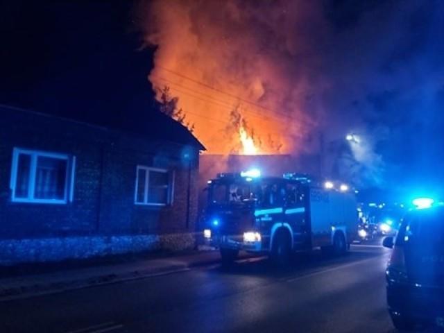 Pożar przy Mrzygłodzkiej w Zawierciu