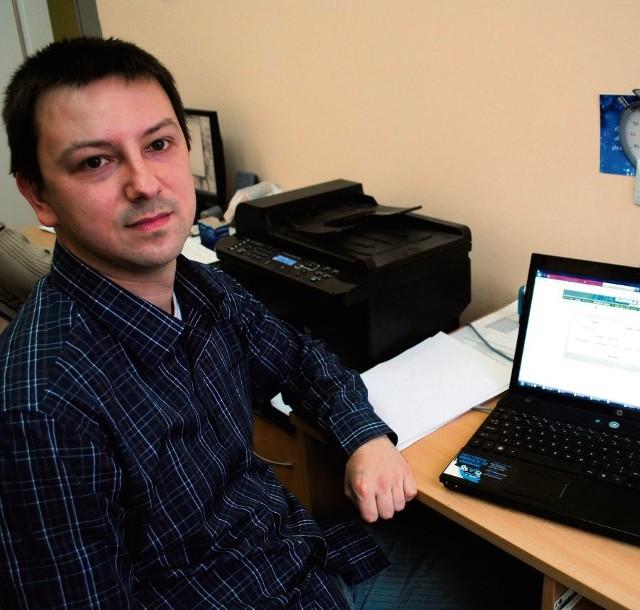Dawid Bochenek, kierownik sekcji informatyków, zapewnia, że system jest łatwy w obsłudze