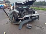 Pijany kierowca spowodował tragiczny wypadek. Autostrada A1 w Woźnikach zablokowana