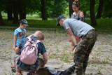 """""""ArcheoPiknik"""" w Żaganiu! Każdy znalazł coś dla siebie! Było szukanie skarbów i rzucanie toporem!"""
