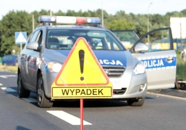 Droga po wypadku została zablokowana